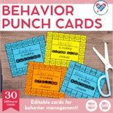 Behavior Punch Cards EDITABLE