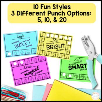 Behavior Punch Cards 10 FUN Themes