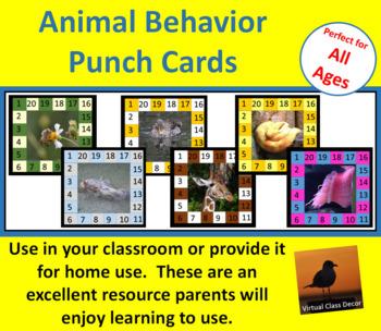 Behavior Punch Cards - Animal Set 1