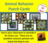 Behavior Punch Cards - Animal Set 3