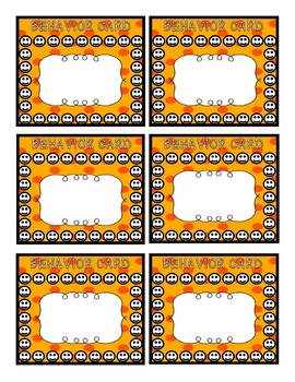 Behavior Punch Cards **BUNDLE**