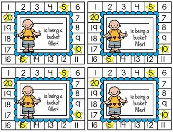 Behavior Punch Cards {Bucket Fillers}