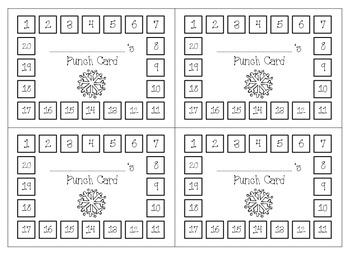 Behavior Punch Cards & Classroom Reward Coupons