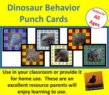 Behavior Punch Cards - Dinosaurs Set 1