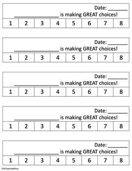 Behavior Punch Cards - EDITABLE