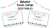 Behavior Punch Cards (Editable)
