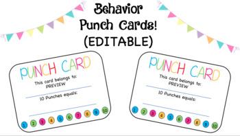 Behavior Punch Cards (Editable)