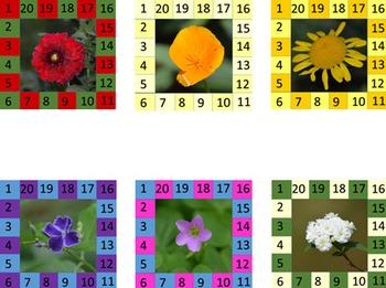 Behavior Punch Cards - Flowers Set 1