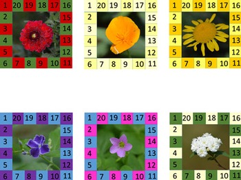 Behavior Punch Cards - Flowers Set 1