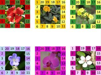 Behavior Punch Cards - Flowers Set 2