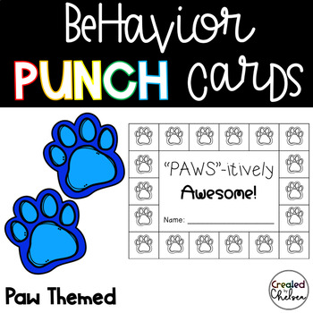 Behavior Punch Cards {Paws-itively Awesome!}