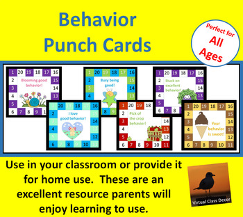 Behavior Punch Cards Set 2