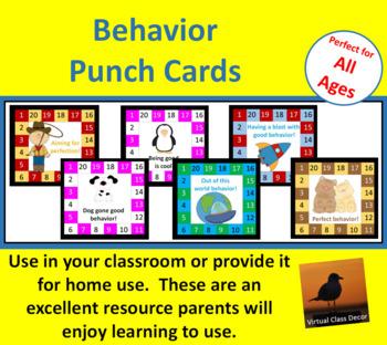 Behavior Punch Cards Set 3
