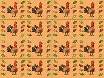 Behavior Punch Cards (Thanksgiving)