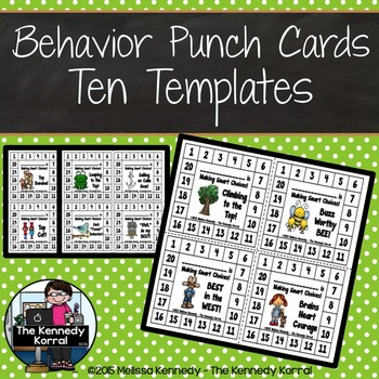Behavior Punch Cards {10 Themes}