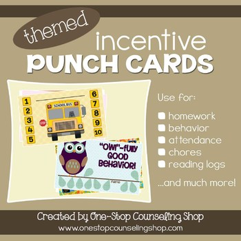 Incentive Punch Cards: Themed Pack