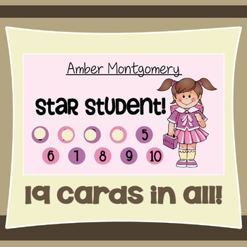 Behavior Incentive Punch Cards: Themed Pack
