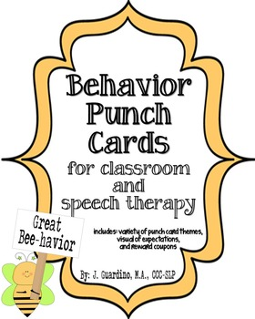 Behavior Punch Cards, Visual, reward coupons