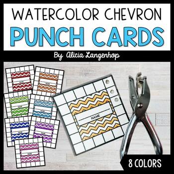 Behavior Punch Cards *Watercolor Chevron*