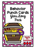 Behavior Punch Cards - Year Long Pack
