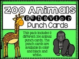 Behavior Punch Cards {Zoo Animal Theme}