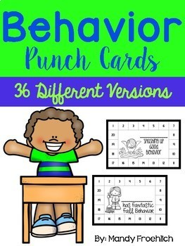 Behavior Punch Cards for All Seasons