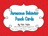 Behavior Punch Cards for Classroom Management