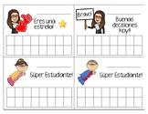 Behavior Punch/ sticker cards in Spanish