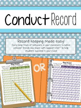 Behavior Record Chart