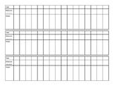 Behavior Record Sheets