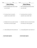 Behavior Reflection 1/4 page