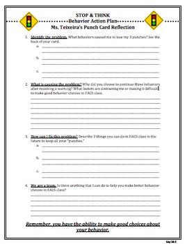 Behavior Reflection & Action Plan