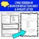 Behavior Reflection |  Behavior Think Sheet and Apology Letter