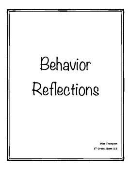 Behavior Reflection Binder