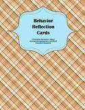 Behavior Reflection Cards for Classroom Management