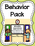 Behavior Reflection Forms--Behavior Bulletin Board--Behavior Binder Cover
