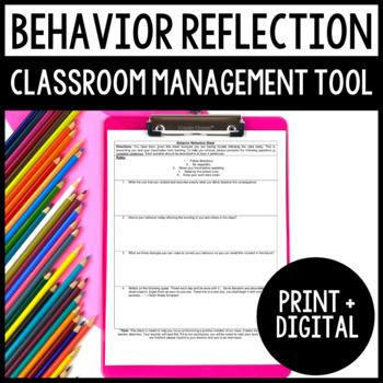 Behavior Reflection - Classroom Management Tool