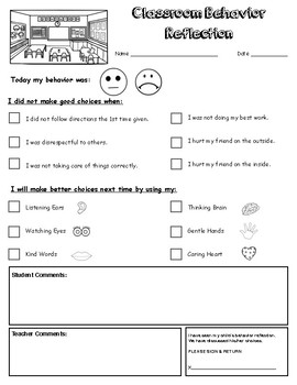 Behavior Reflection Documentation (Primary Level)
