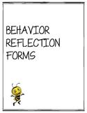 Behavior Reflection Forms, Projects, Behavior Plans