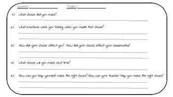 Behavior Reflection Forms, SMART goals, Classroom Rewards, Management Pack