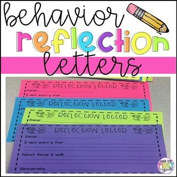 Behavior Reflection Letter: Free