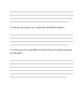 Behavior Reflection Questions