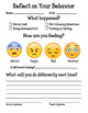 Behavior Reflection Sheet