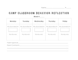 Behavior Reflection Sheet - Editable!