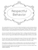 PBIS Behavior Reflection Sheet - Respect w video link PBIS
