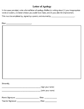 Behavior Reflection Sheet Step 2