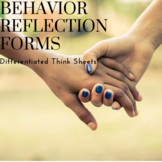 Differentiated Behavior Reflection Sheets