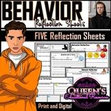 Behavior Reflection Sheets (5)