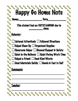 Behavior Reflection Sheets - Positive and Negative Take Home Forms