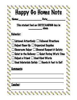 Behavior Reflection Sheets - Positive and Negative Take Ho